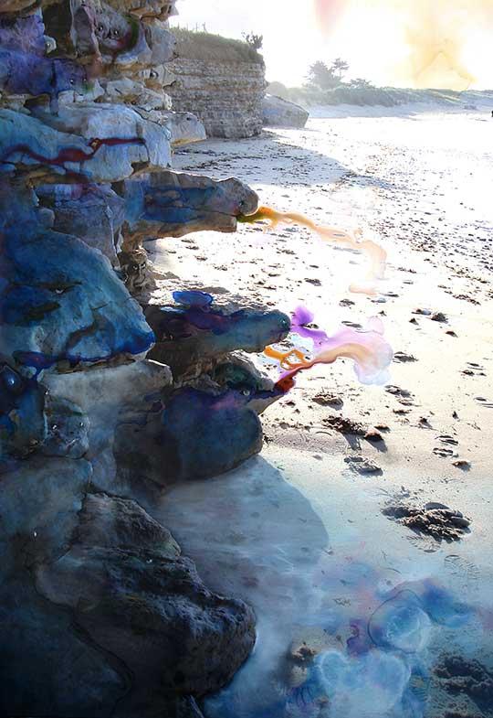 La marée monte - Ile de Ré (100cm x 80cm) - 2007