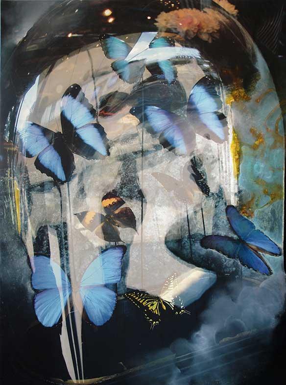 Papillons bleus (130cm x 97cm) - 2009