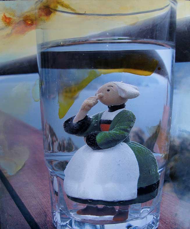 Bécassine se noie dans un verre d'eau (61cm x 50cm) - 2008