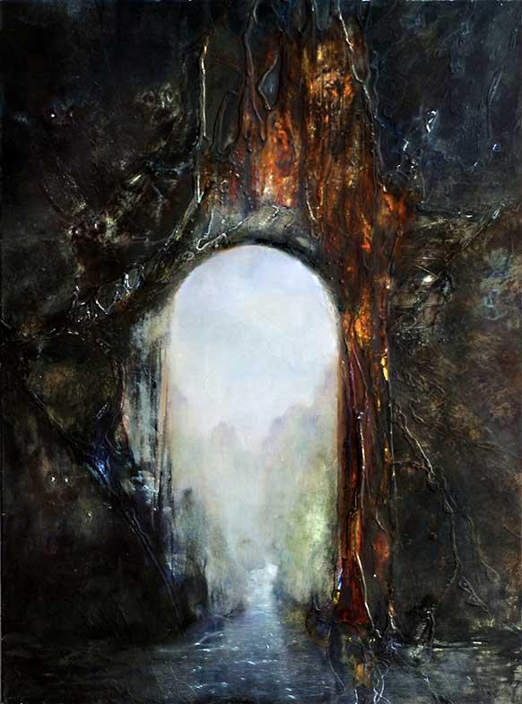 La porte (73cm x 92cm) - 2002