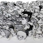Installation 100 personnages bd - Hervé Bourdin